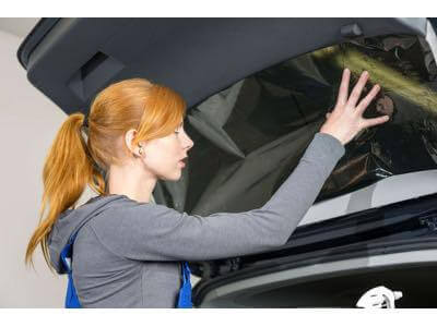Window tinting specials at Audio Realm.