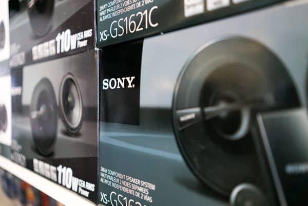 Sony car speaker system car audio installation