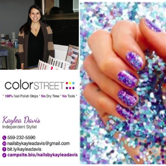 NAILS BY KAYLEA - COLOR STREET - Get a manicure in minutes with Color Street 100% real nail polish strips. Applies easily with no special tools, no dry time, and no smudges. These stunning nail polish strips come in solids, glitters, designs, and French styles. They are easy to remove with any nail polish remover.