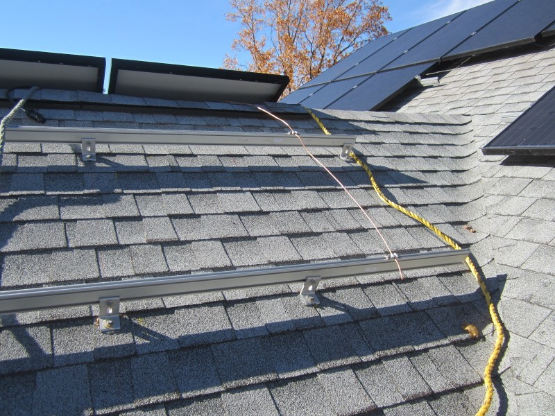 Solar racking on east side of roof