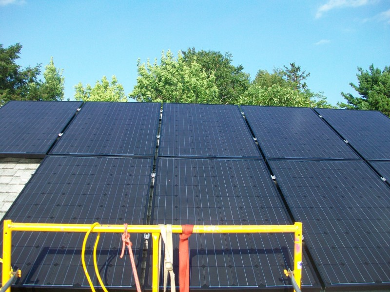 Solar PV panels installed on south roof