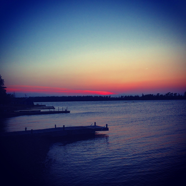 - Nothing like a UP sunset over Lake Superior.