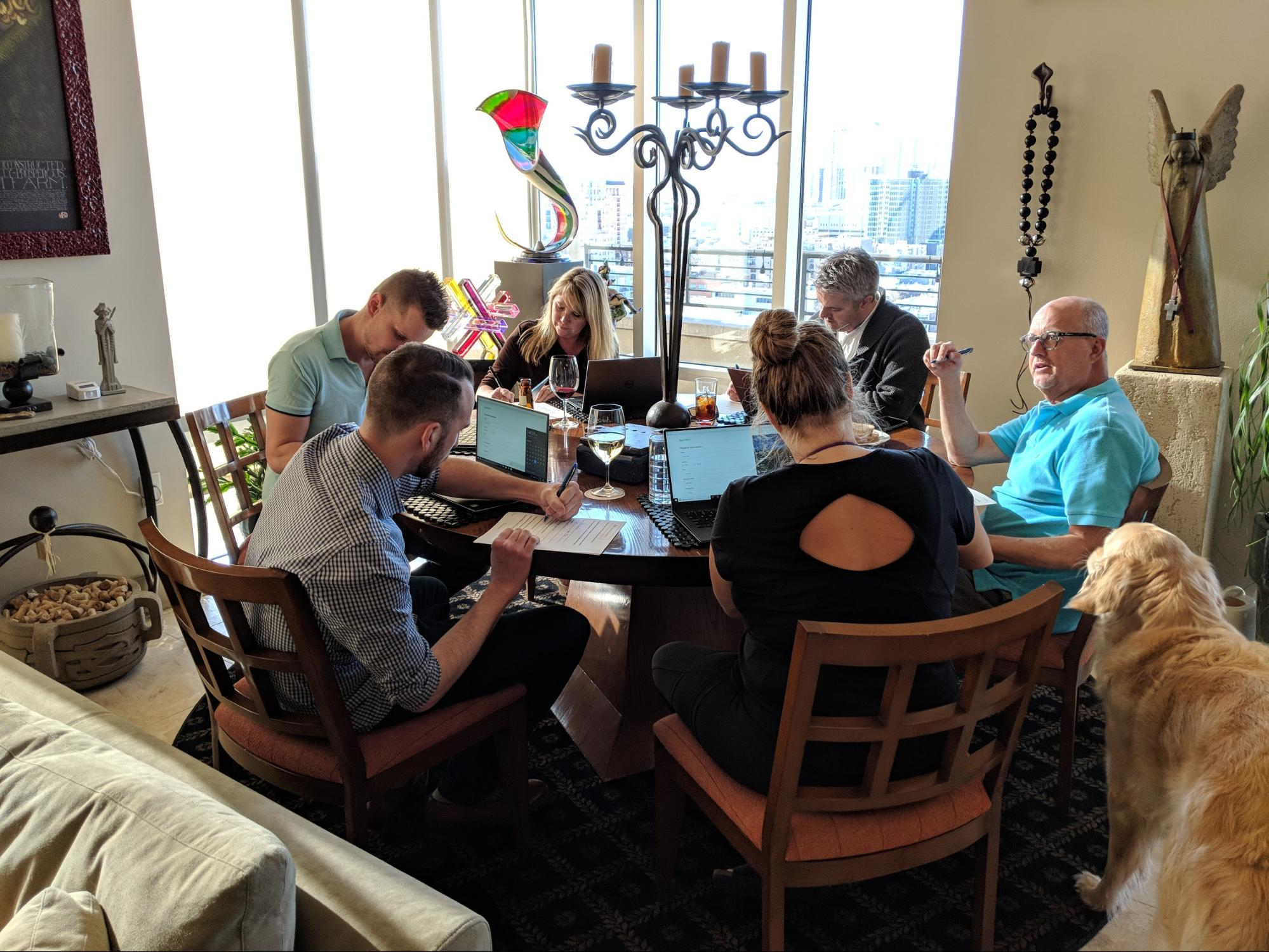 One of our small apartment focus groups in a high-end Denver, CO asset.