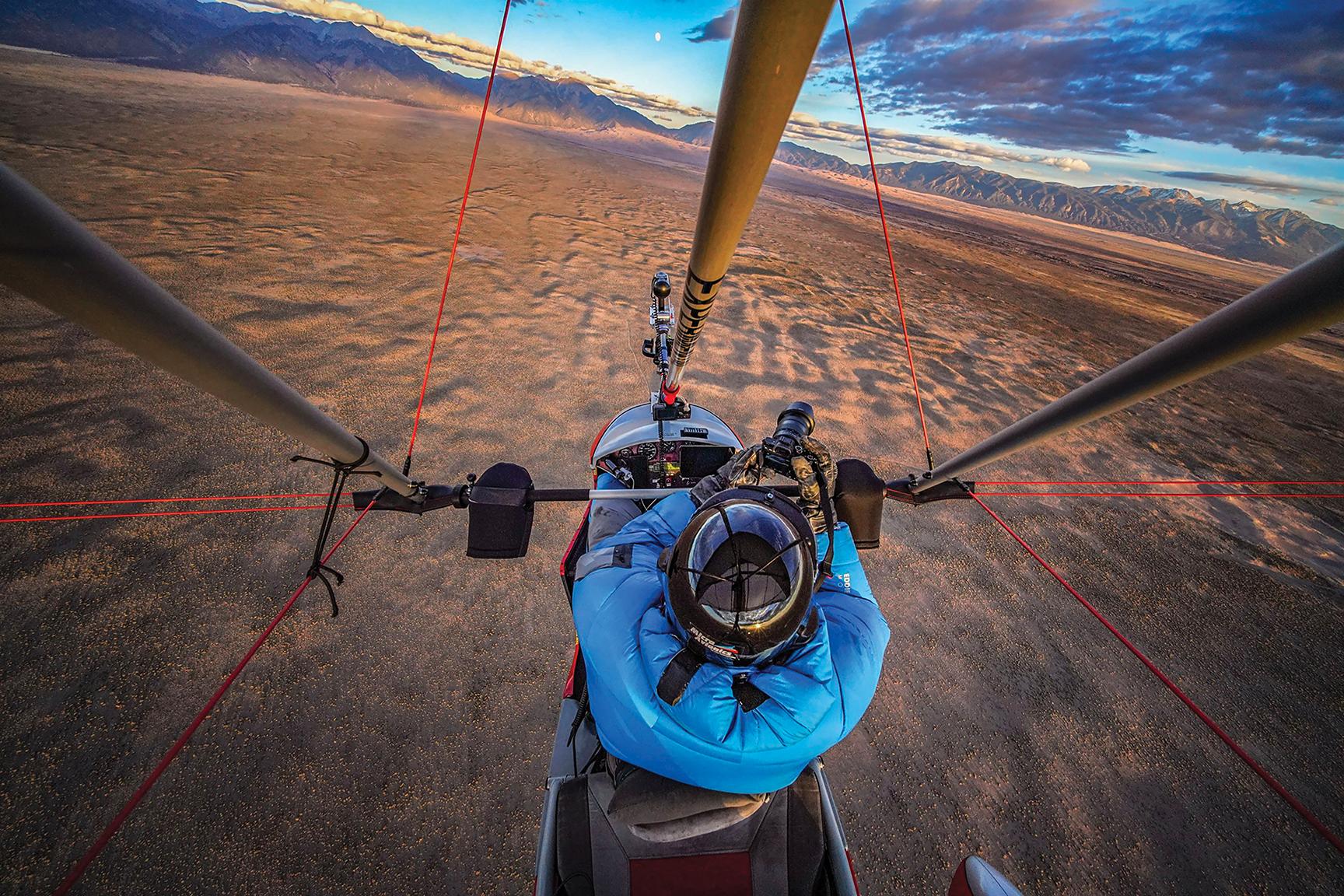 Dahl-Bredine high above Colorado's San Luis Valley. Photo by Renan Ozturk