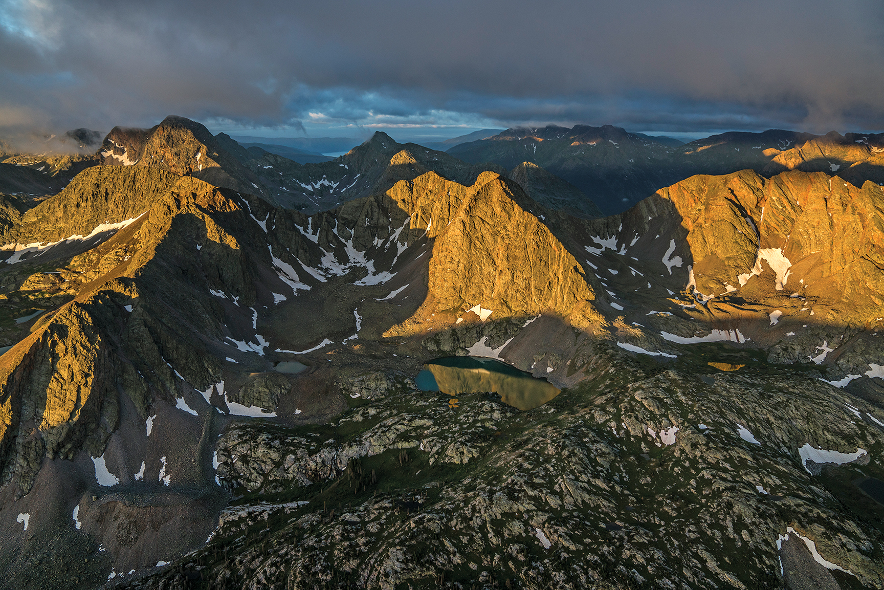 Terrain near the Continental Divide, Weminuche Wilderness, Colorado. Photo by Chris Dahl-Bredine