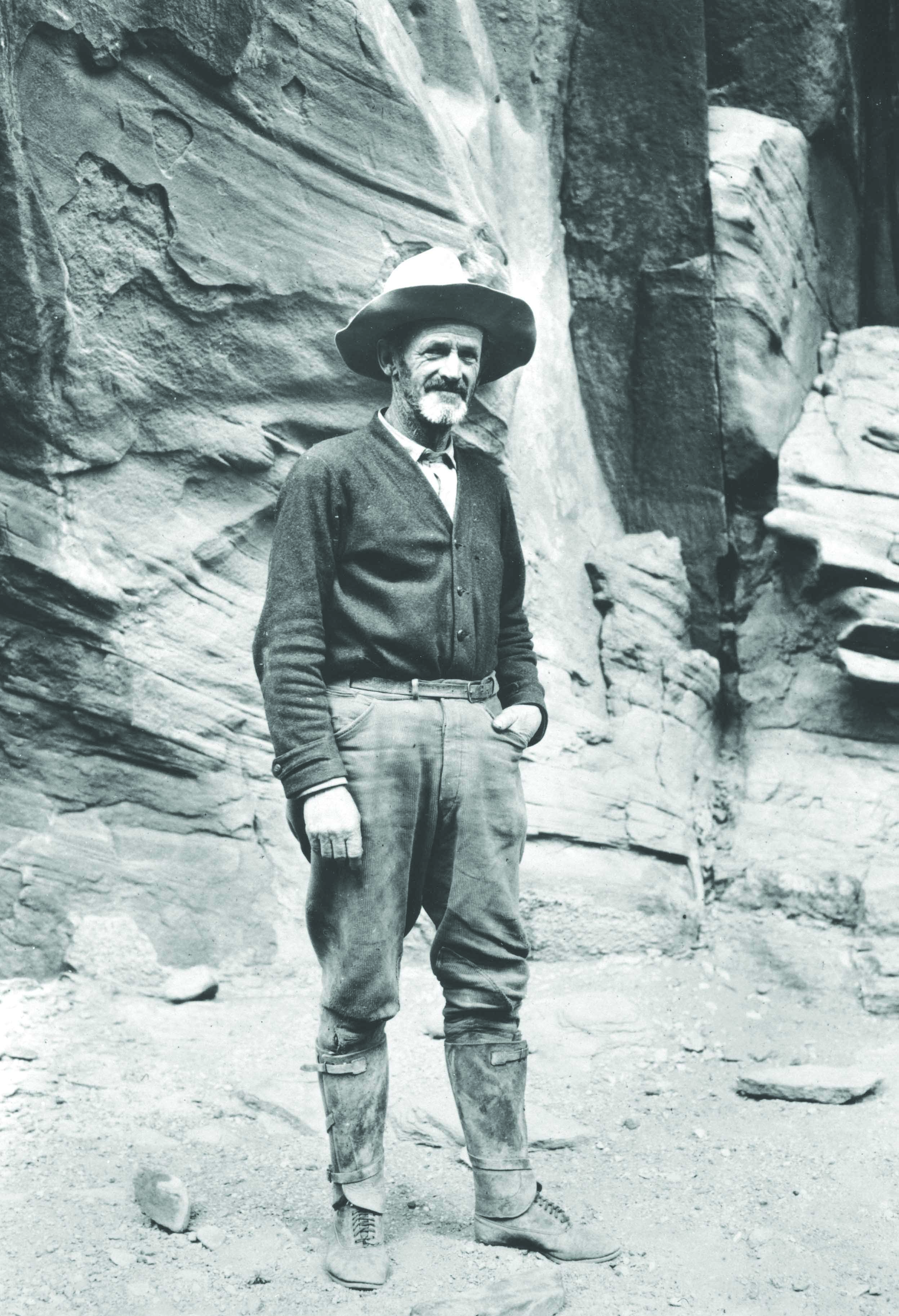 John Wetherill near Rainbow Bridge in 1923. Courtesy of Harvey Leake.