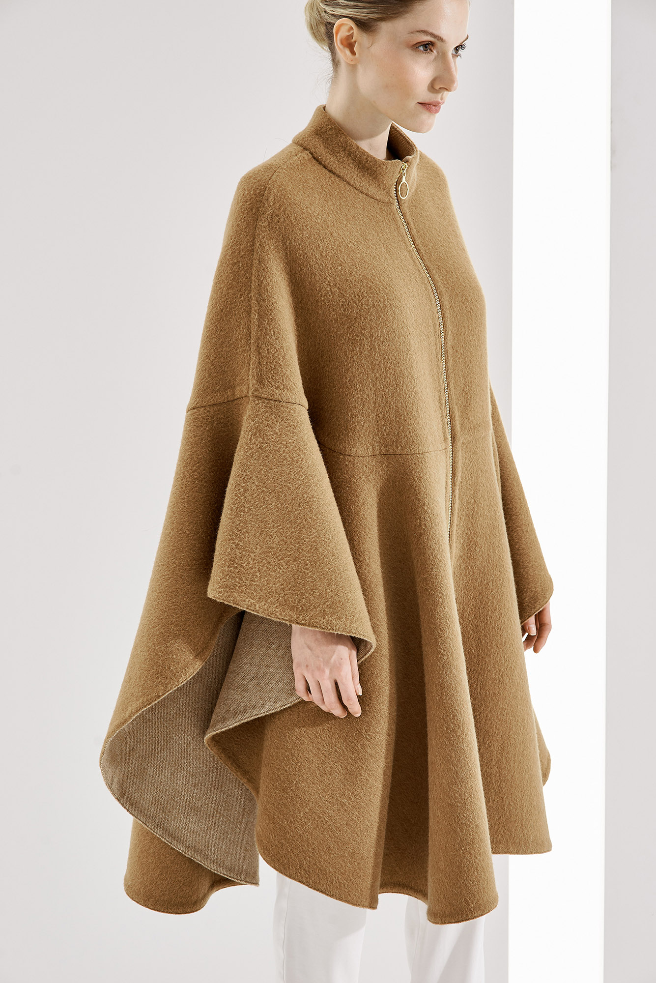 CAPE ANNA AT-421   Colors:  double face camel/textured,  donegal oatmeal/gray, ecru/sand  Sizes: XS, S, M, L