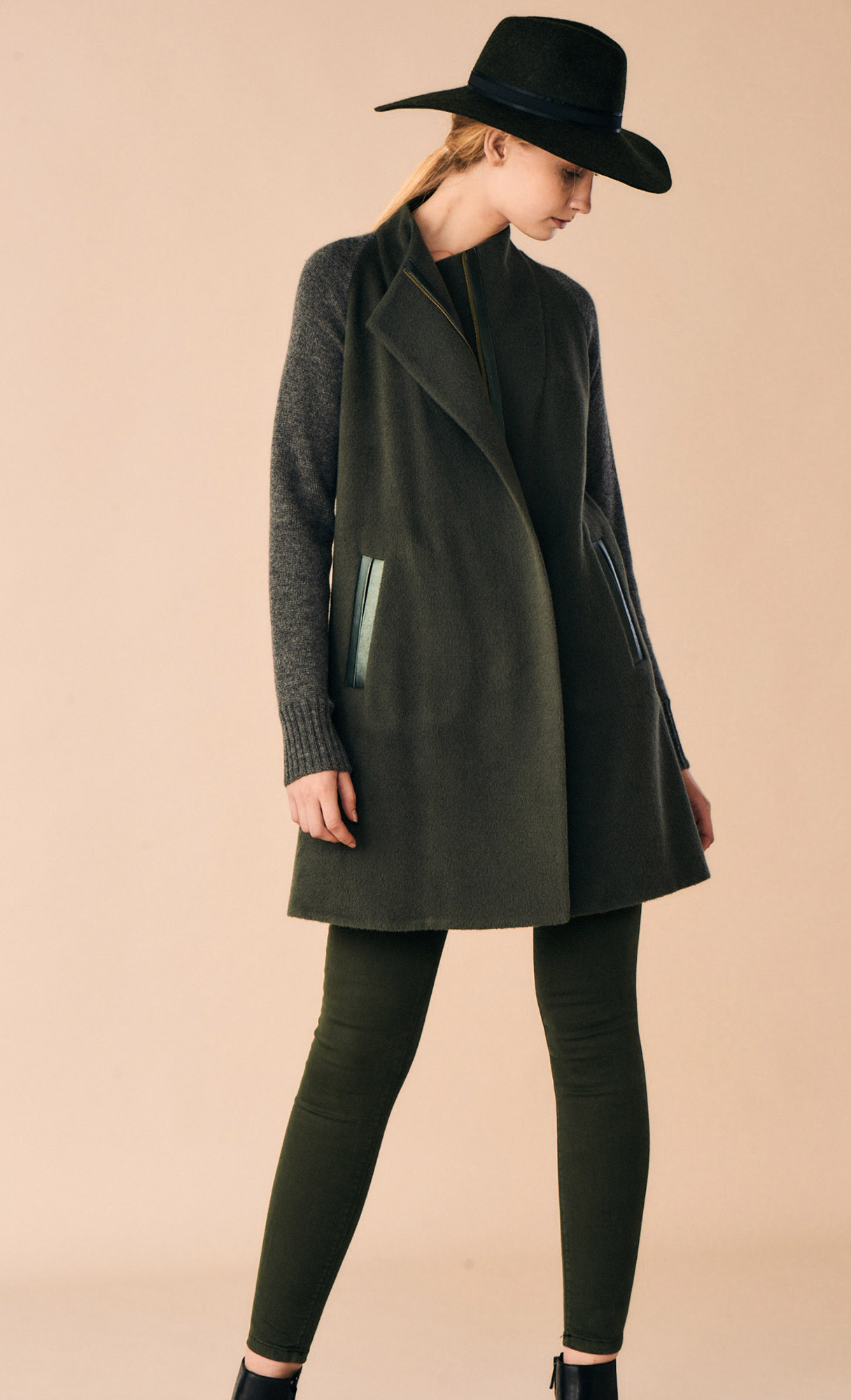 JACKET ARIANNA AT-338   Colors:  rosemary green   Sizes: XS, S, M, L, XL