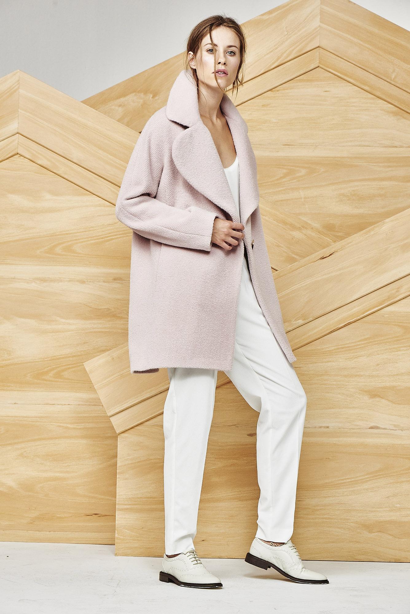 COAT MARIELLA   Colors: winter white,  soft rose,  burgundy, coffee melange, black  Sizes: S, M, L, XL