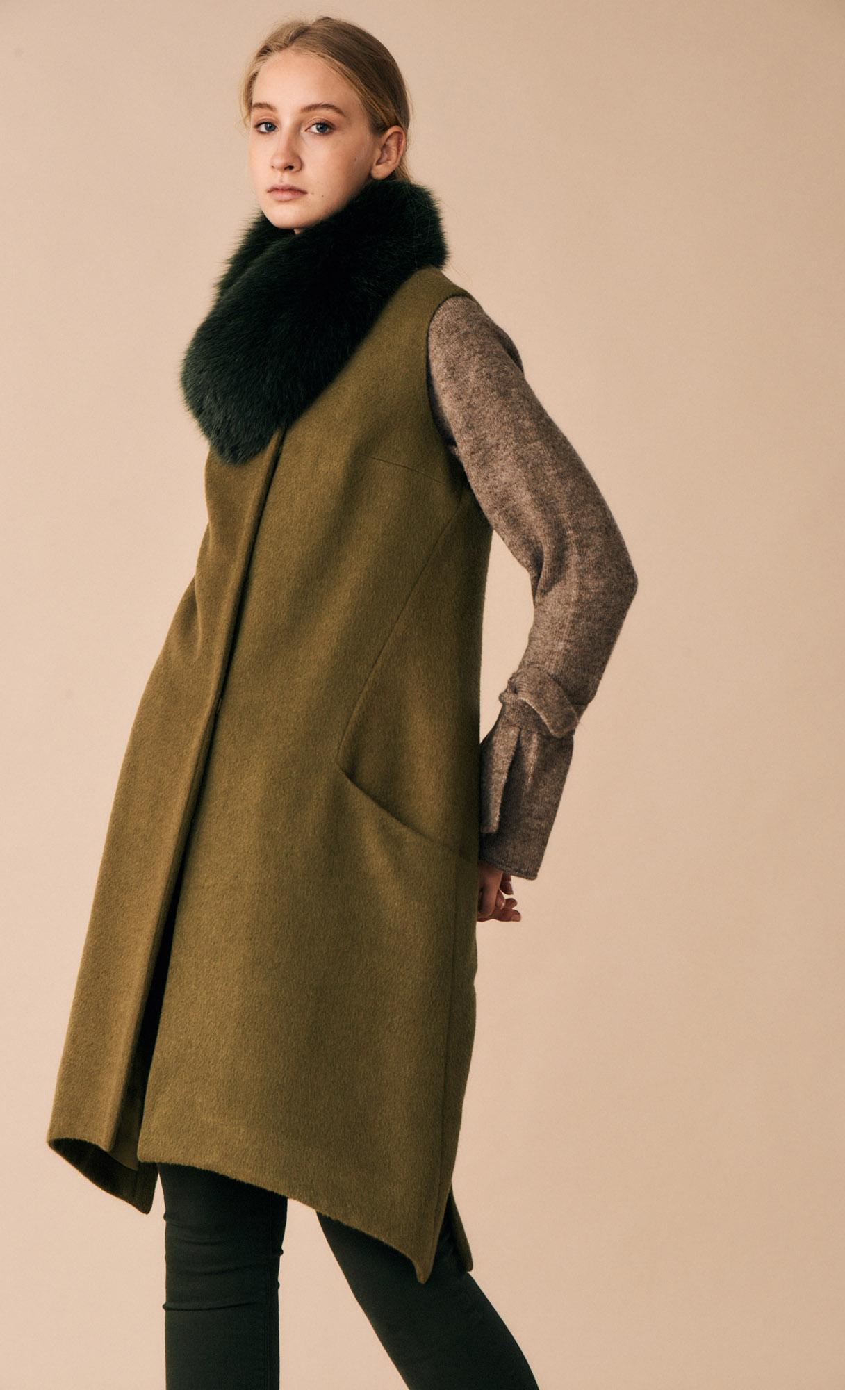COAT SANDRA AT-316   Colors: olive green, black  Sizes: XS, S, M, L, XL