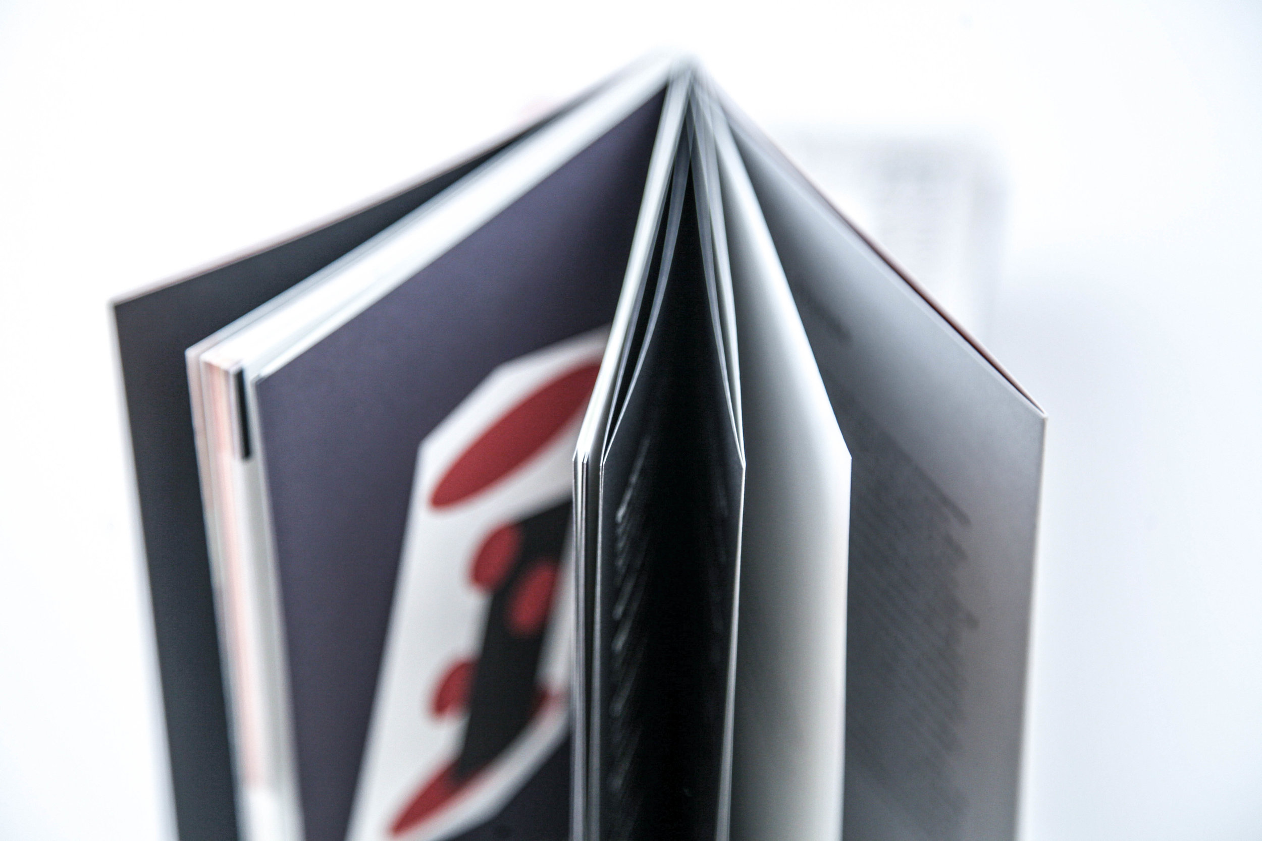 The pages of the magize slightly open
