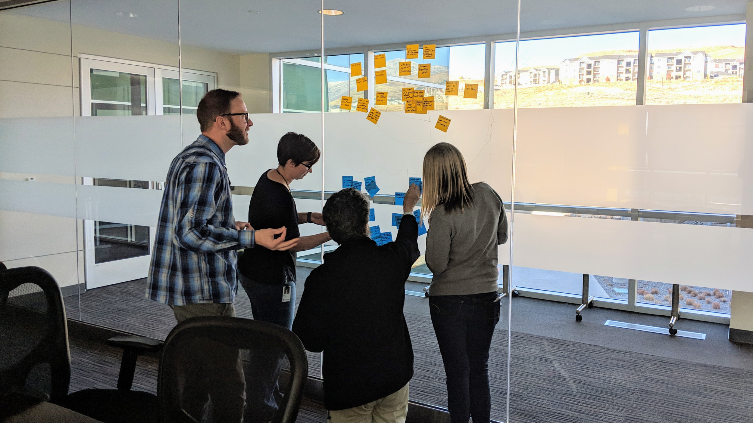 UX Guild - I had the pleasure of leading out our UX Guild for the latter half of 2017 and all of 2018. The Guild grew from a new initiative of 5 attendees to over 20 individuals attending from across the organization. The effect was dramatic, providing a common place to discuss standards and trends in the industry. We learned about designers in teams that we didn't even knew existed, and knowledge of design increased as Product Managers, Support Technicians, and Developers came and shared their insights.