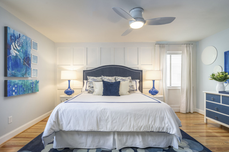 Spring '16 - I did 2 rooms during this challenge. My beach house master bedroom and bathroom (photo above)