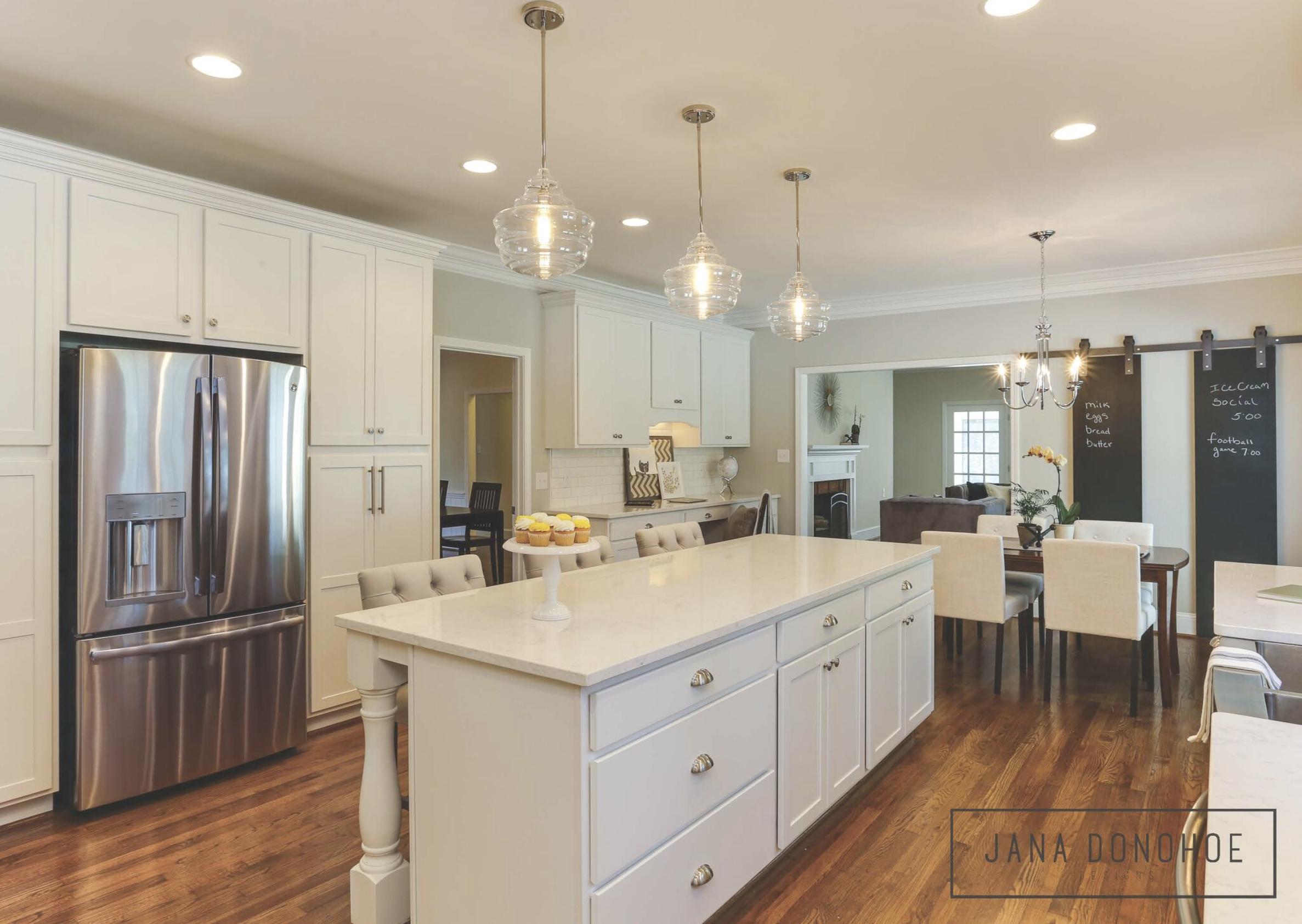Kitchen design by Jana Donohoe Designs, Fayetteville, North Carolina