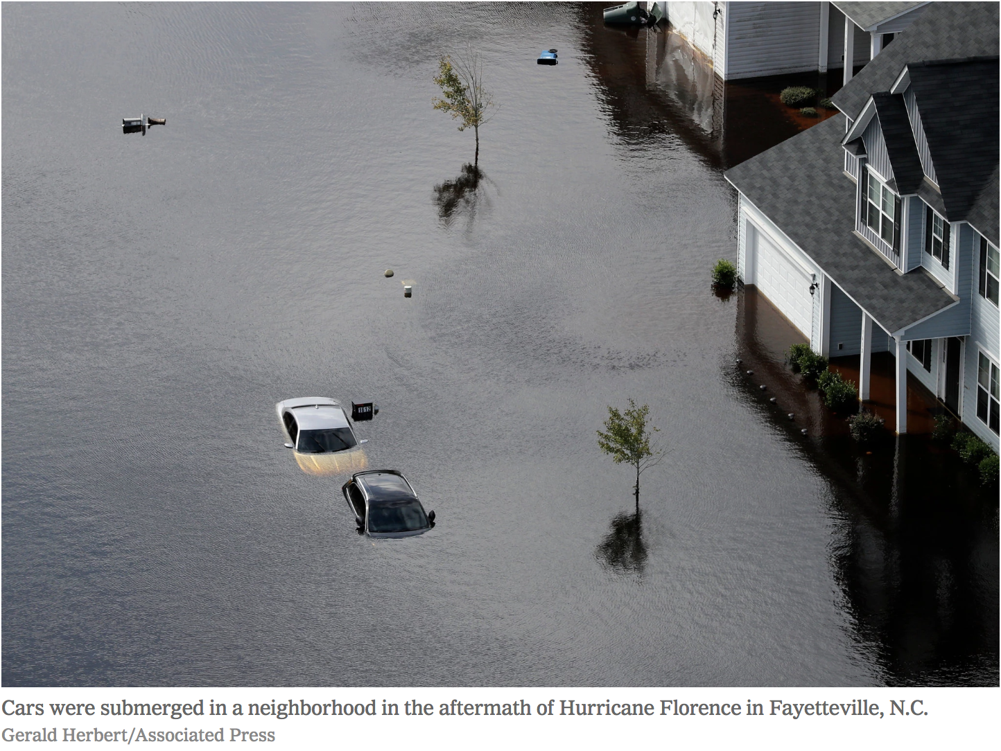 Flooding After Hurricane Florence in Fayetteville, North Carolina