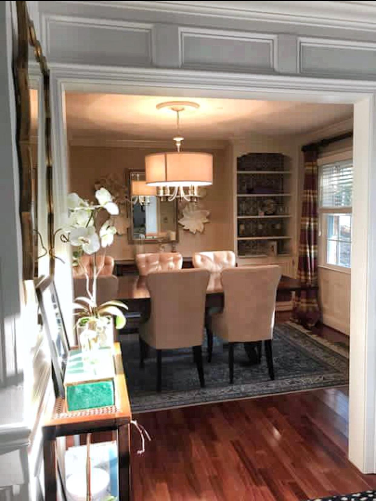 Hallway to Dining Room Transition Jana Donohoe Designs Fayetteville North Carolina 28301, 28303, 28304, 28305, 28306, 28307, 28308, 28310, 28311, 28312, 28314, 28390, 28395.  .jpeg