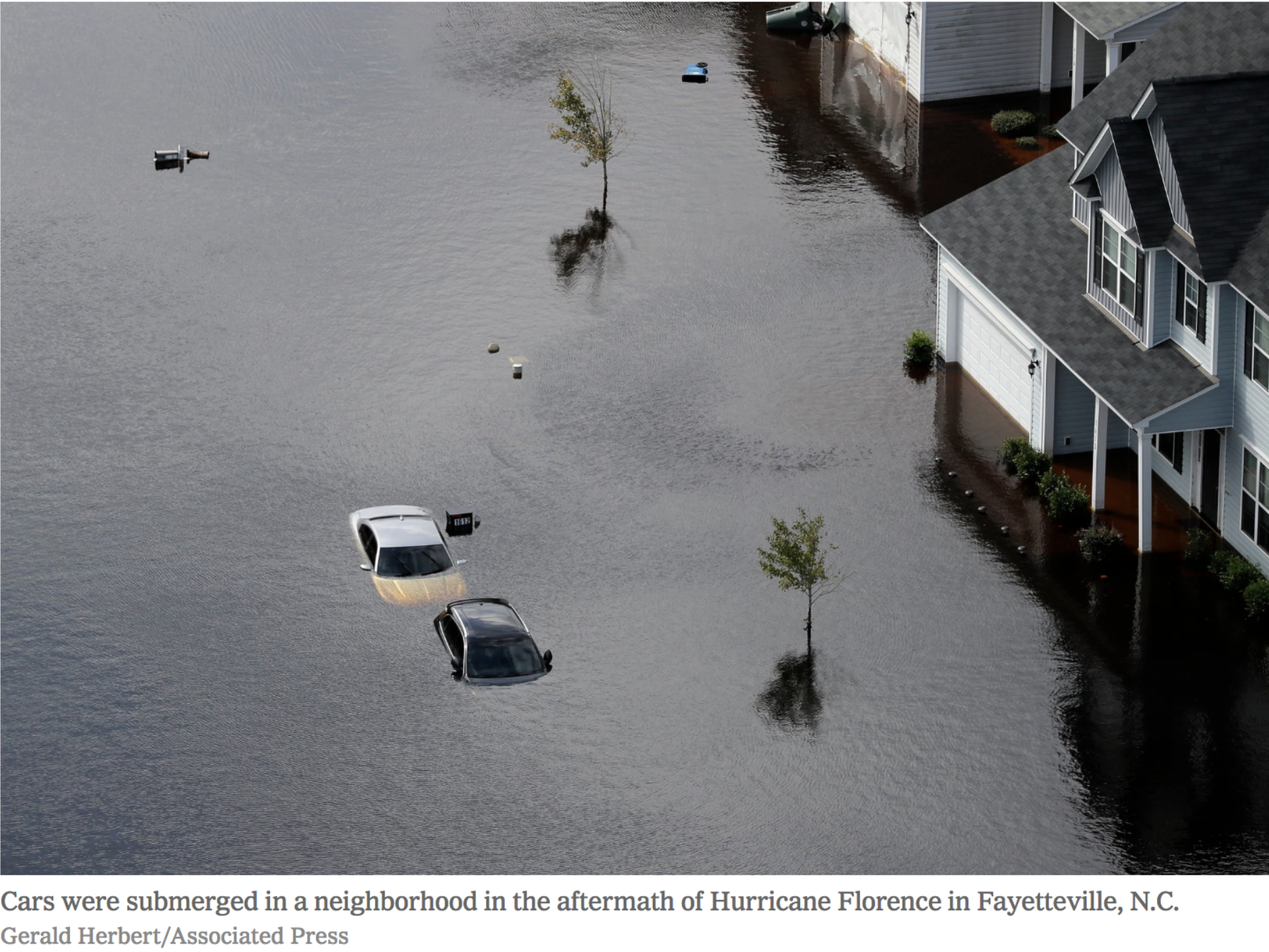 Fayetteville, North Carolina after flooding from Hurricane Florence