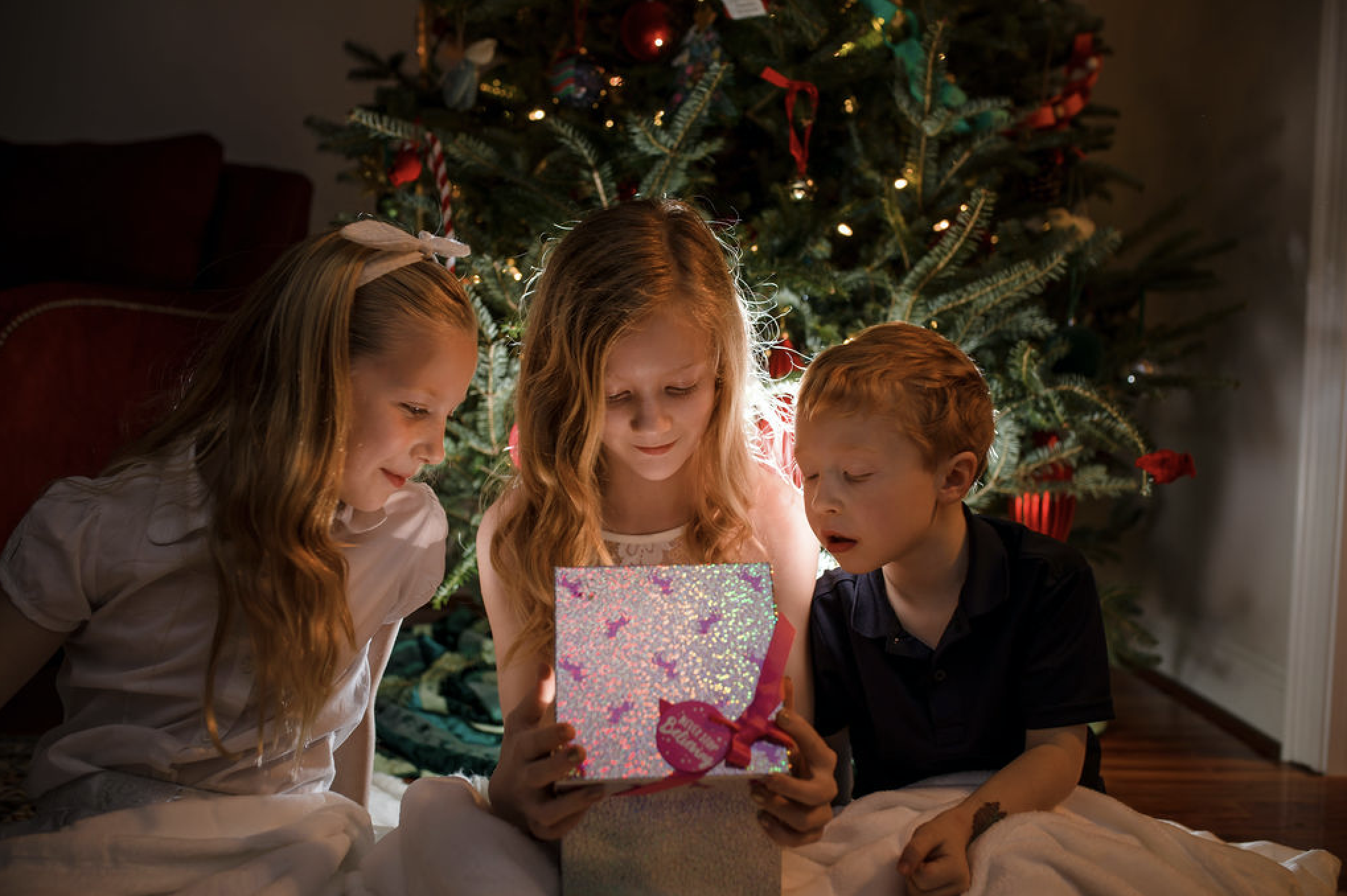 Jana Donohoe's children, Christmas 2018.