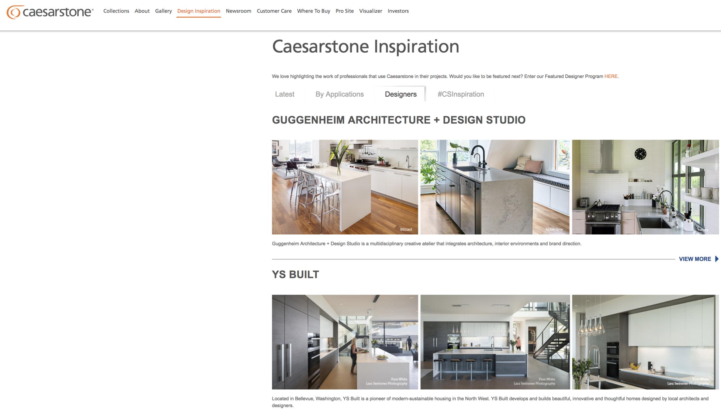 Caesarstone supports interior designers