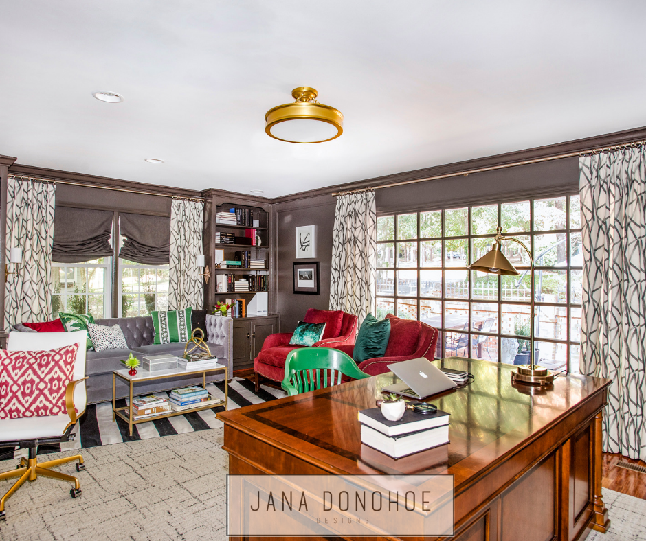 Best Home Office Designs For Interior Designers Jana Donohoe Designs Fayetteville North Carolina