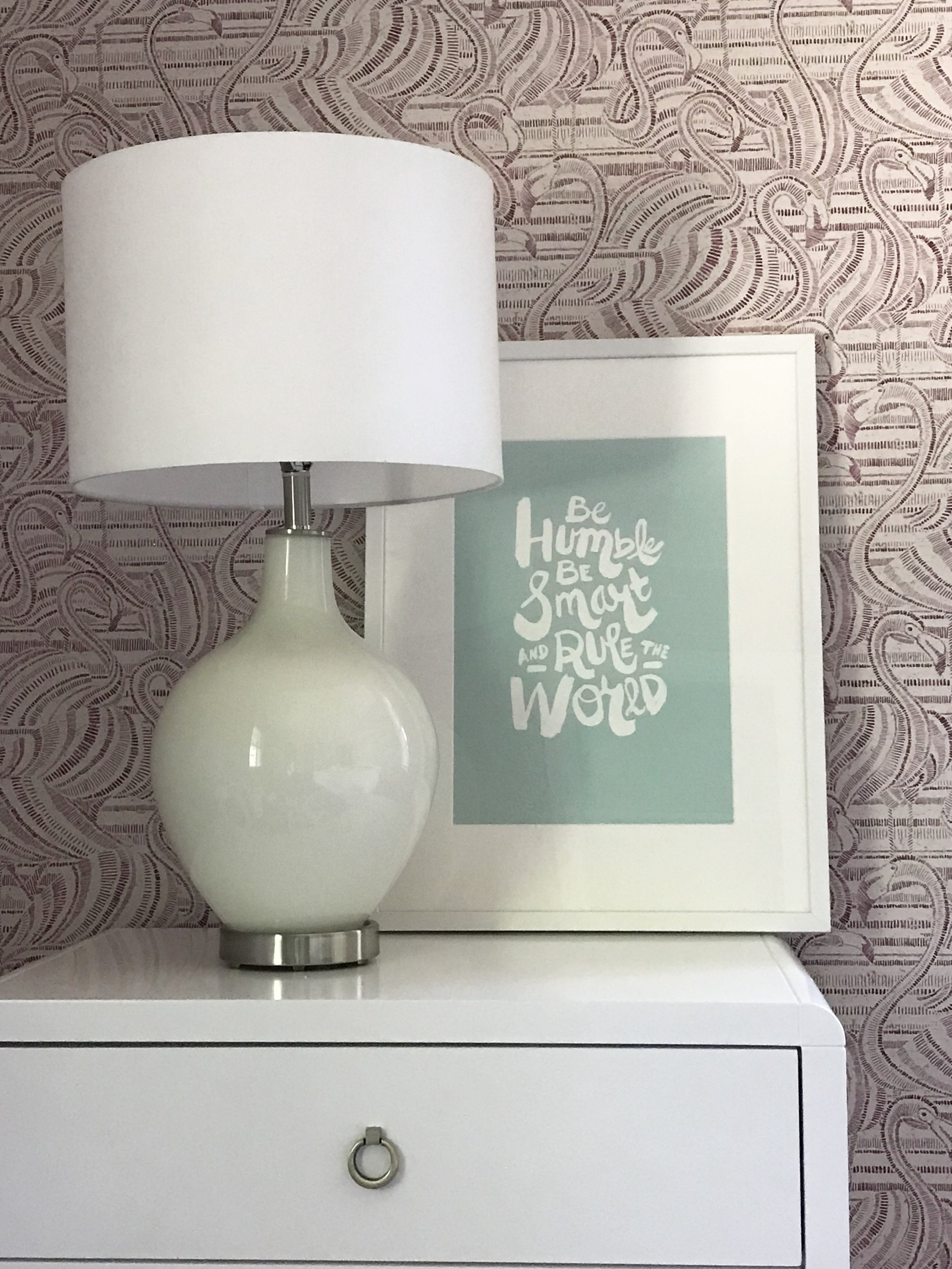 lamps plus lamps with flamingo wallpaper