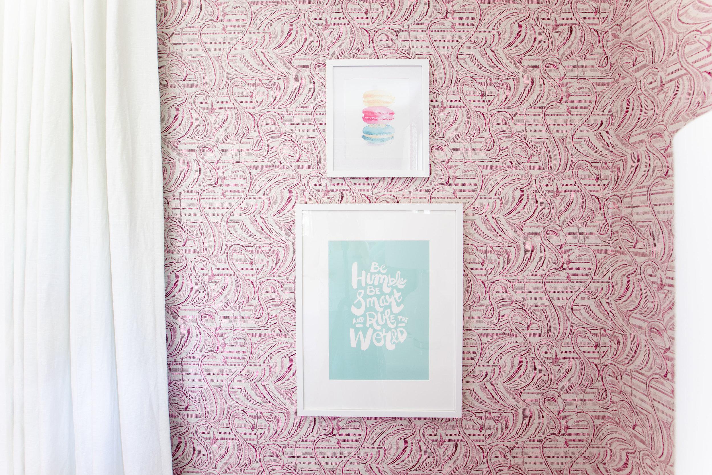 flamingo wallpaper with art