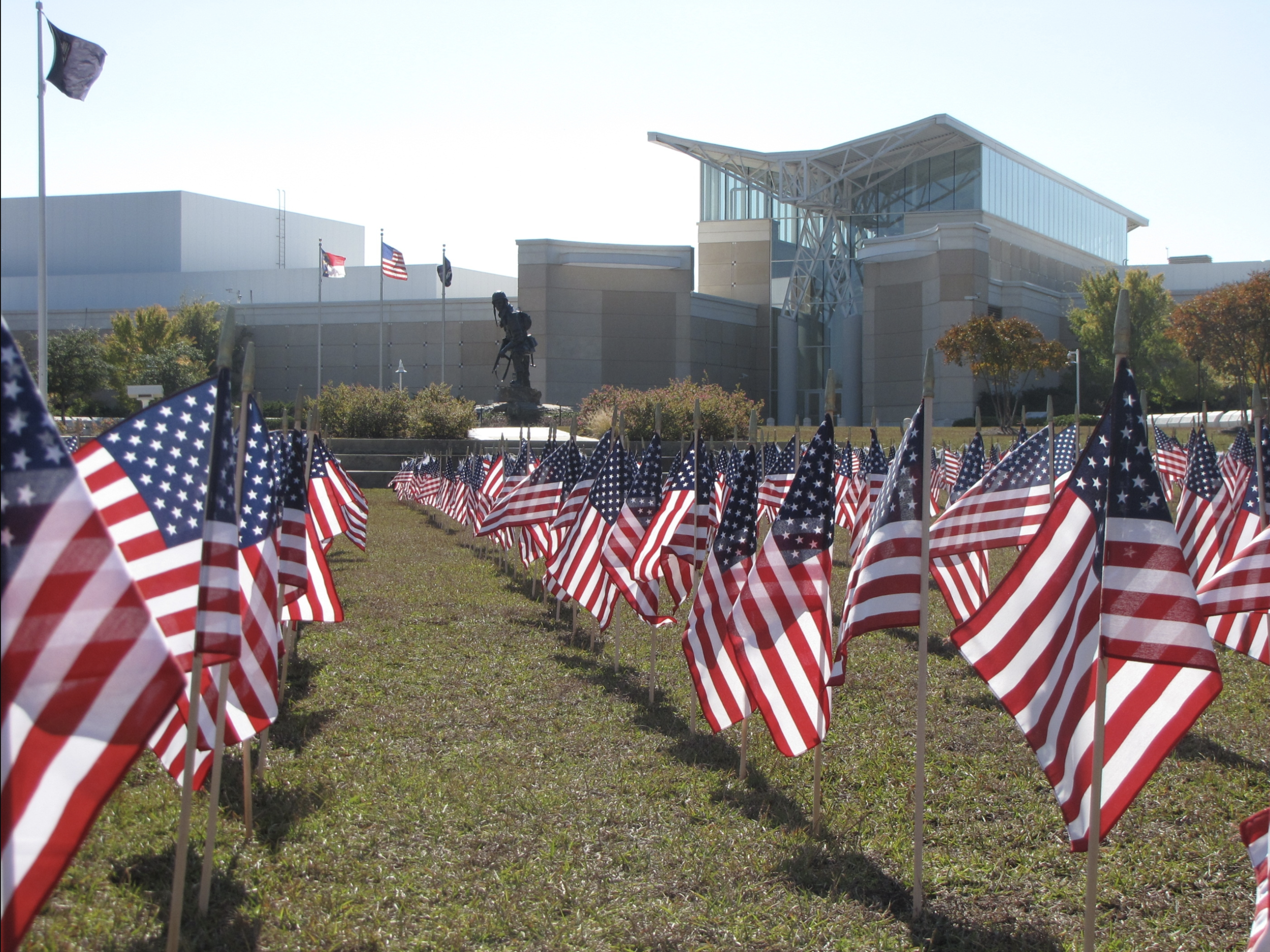 The Flag Field at the U.S. Army Airborne and Special Operations Museum on Memorial Day