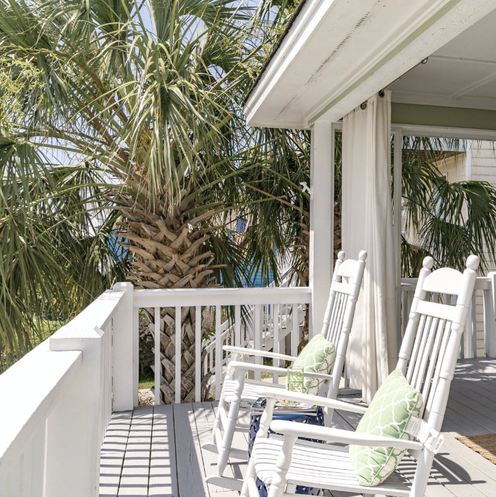 Rocking Chair On The Porch at Kure Beach