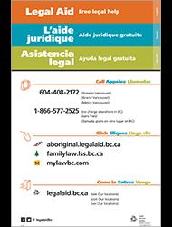 Legal Aid Poster (Multilingual)