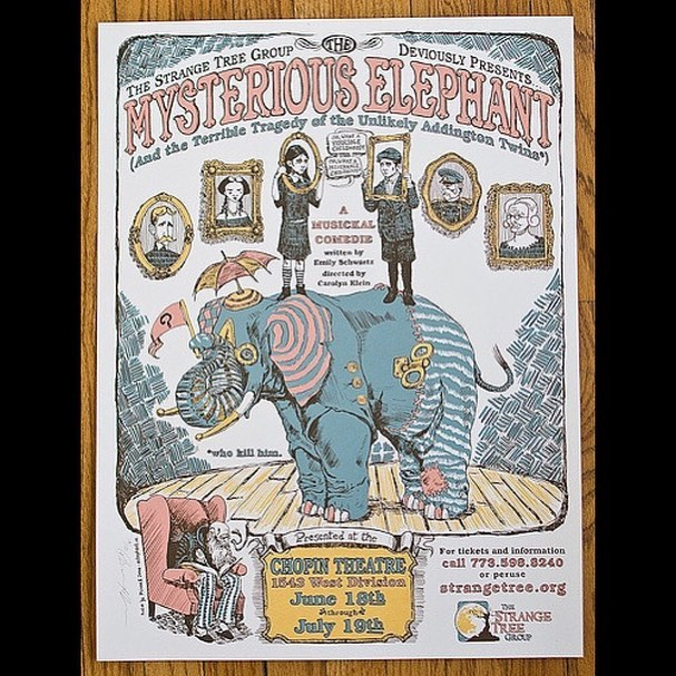 "Auditions for next year's Traveling/Fall Show, ""The Mysterious Elephant and the Terrible Tragedy of the Unlikely Addington Twins (*Who Kill Him)"" will be MAY 31st (Yes! Next week!) after school in the PAC! For more information, join the Google Classroom page (vgv1h6b)"