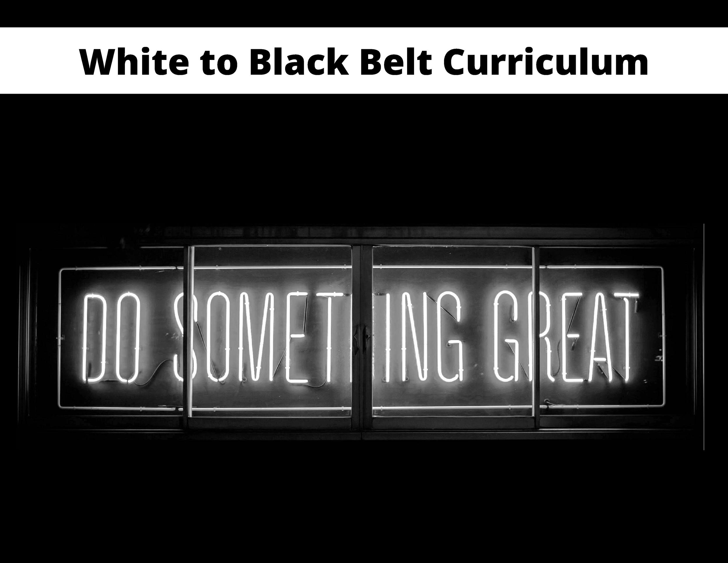 White to Black Belt Curriculum