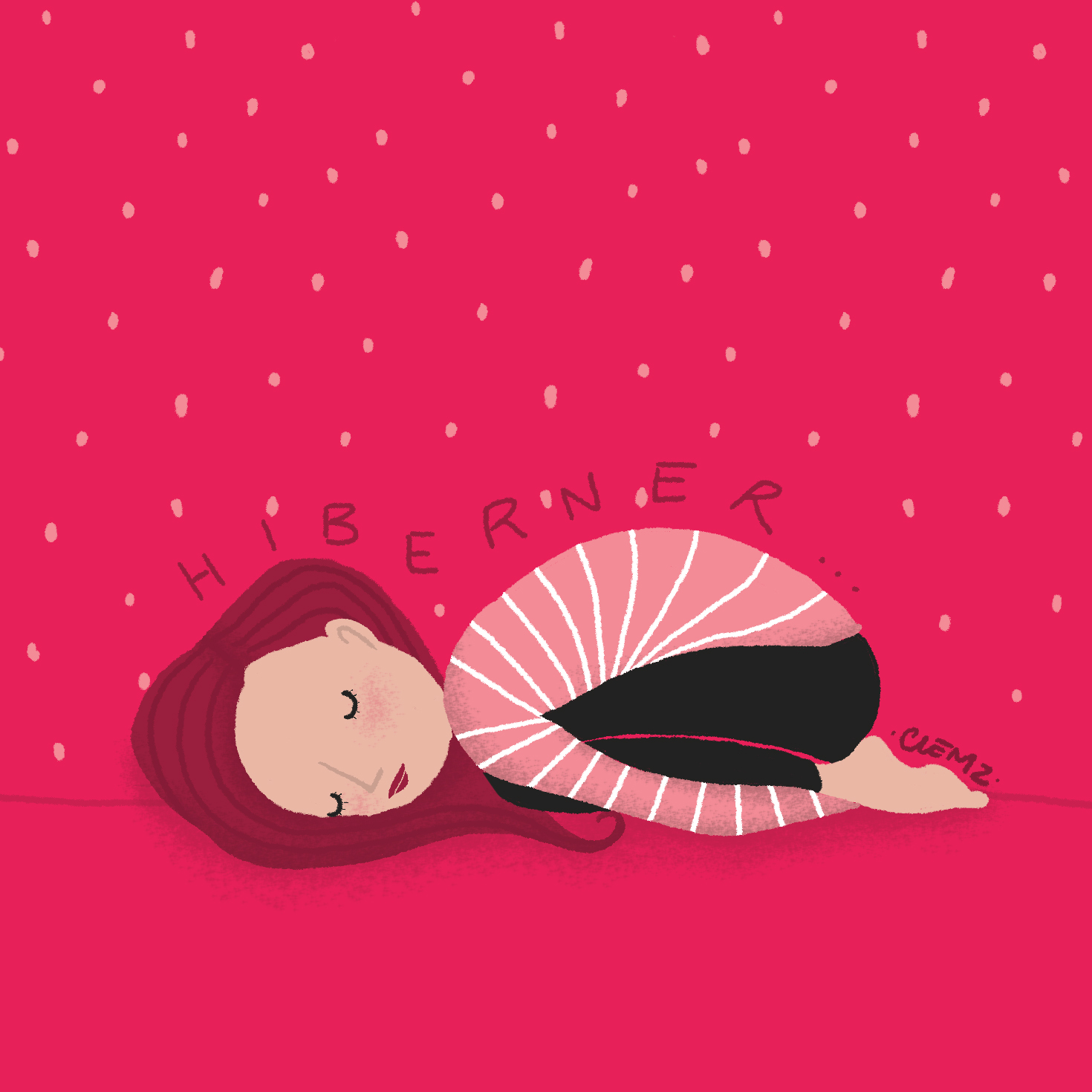 illustration hiberner - lyon - paris - france