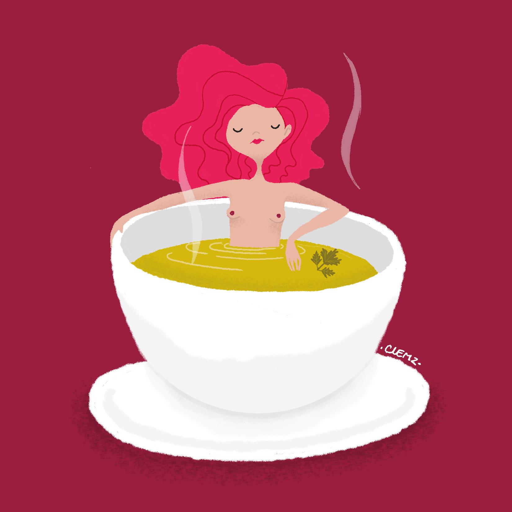illustration soupe - lyon - paris - france