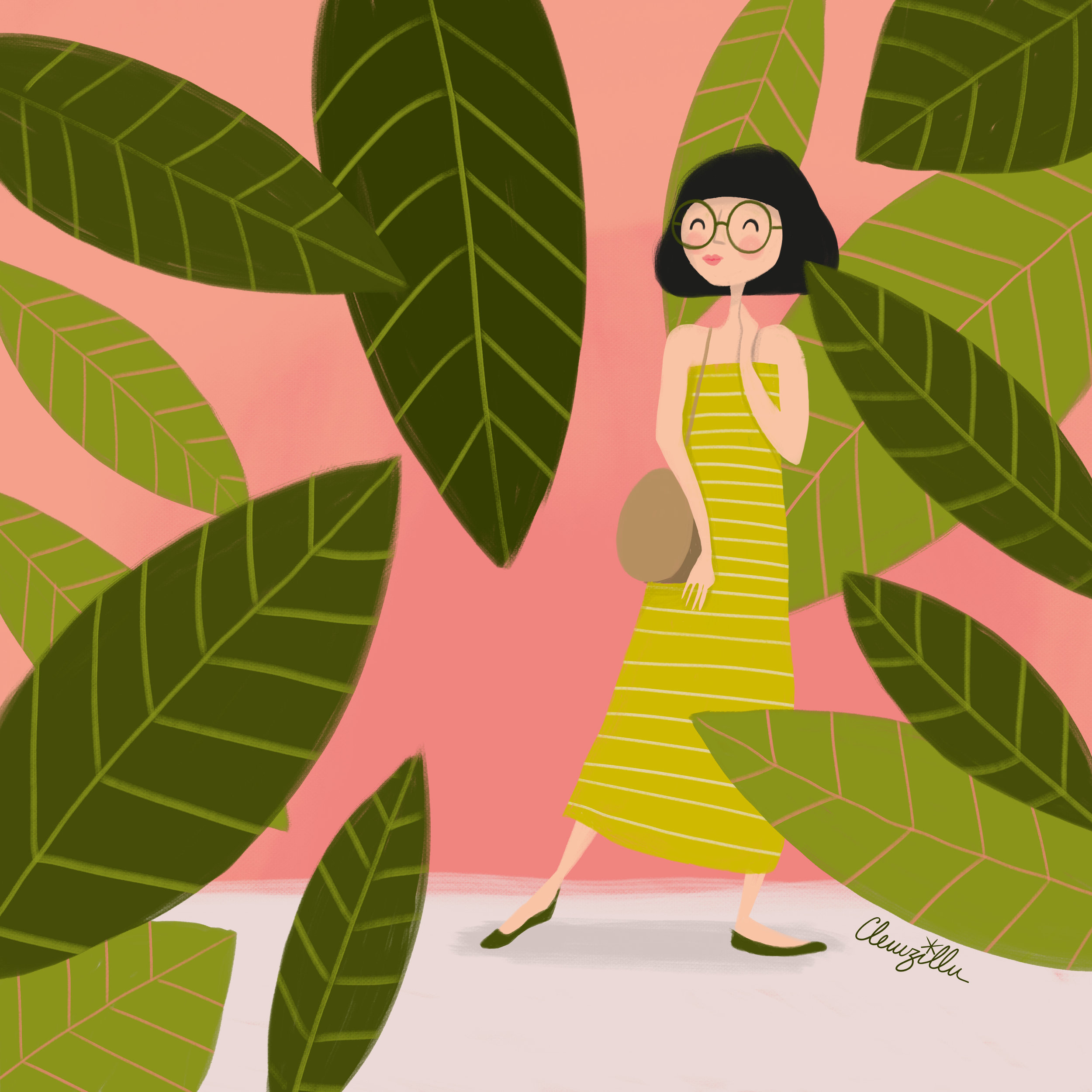 illustration mode fille - lyon - paris - france