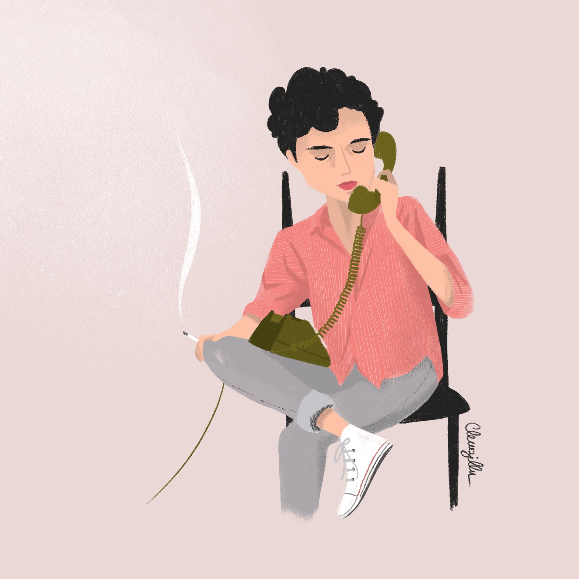 illustration Elio d'après le film Call me by your name - lyon - paris - france