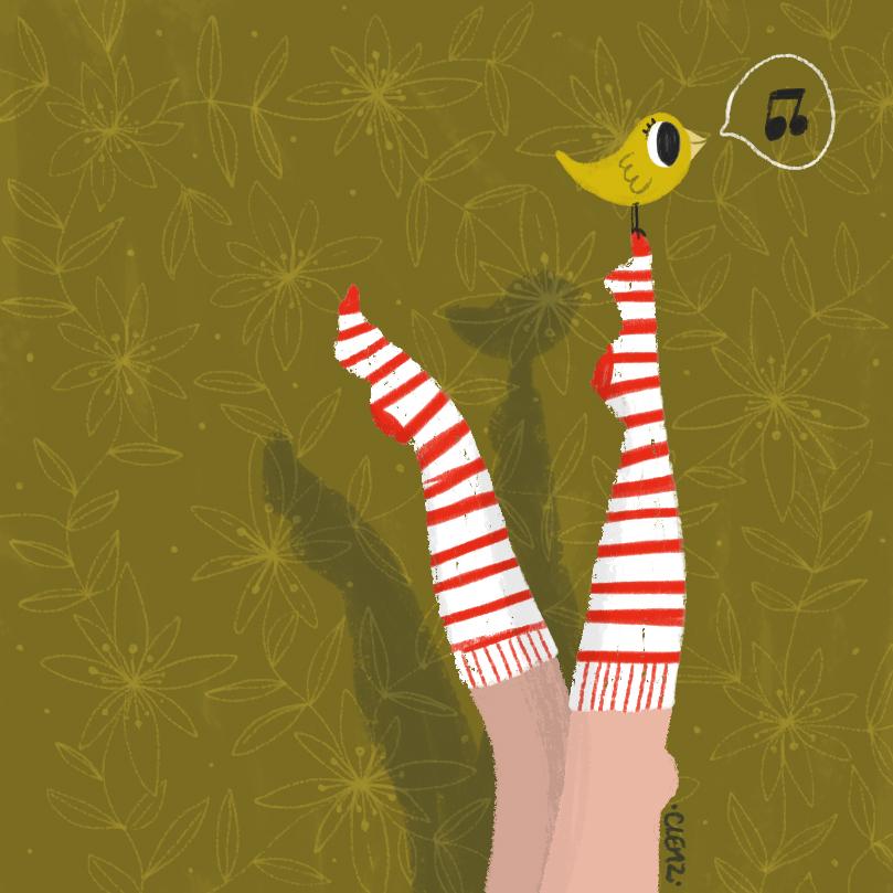 illustration jambes en l'air - lyon - paris - france