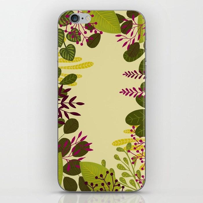 téléphone motif jungle Clemzillu illustration