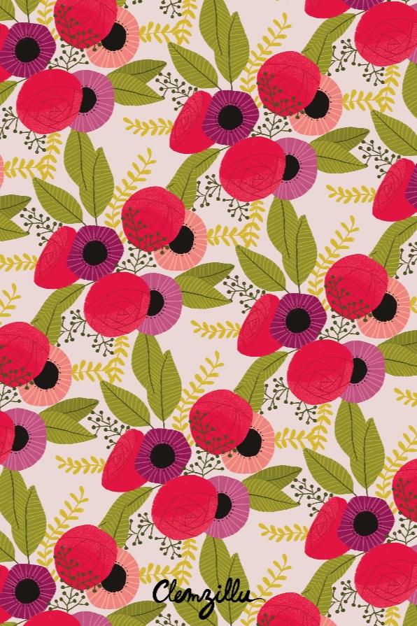 motif bouquet pattern textile design