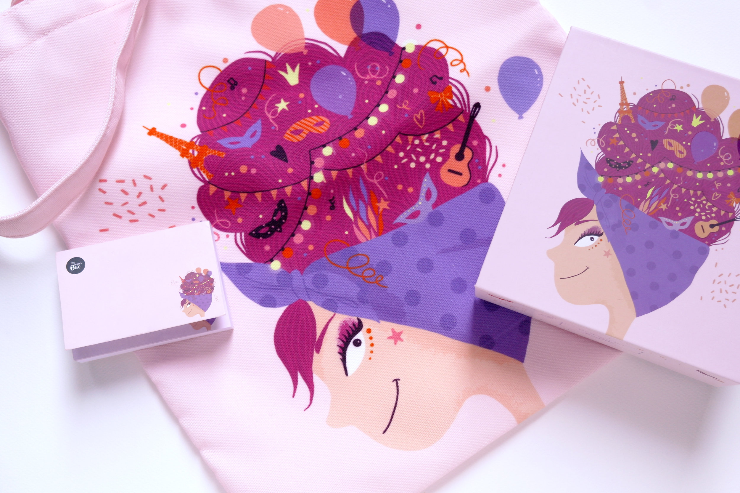 illustration beauty box