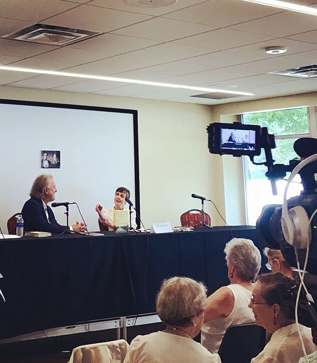 Such a nice time talking about #VARINA with Lisa Howorth (author and co-owner of @squarebooks) today at @msbookfestival! Thanks to everyone who came out, packed the room, and asked such great questions! #msbookfest #literarylawnparty #books #bookevent #reader #readers #reading #charlesfrazier