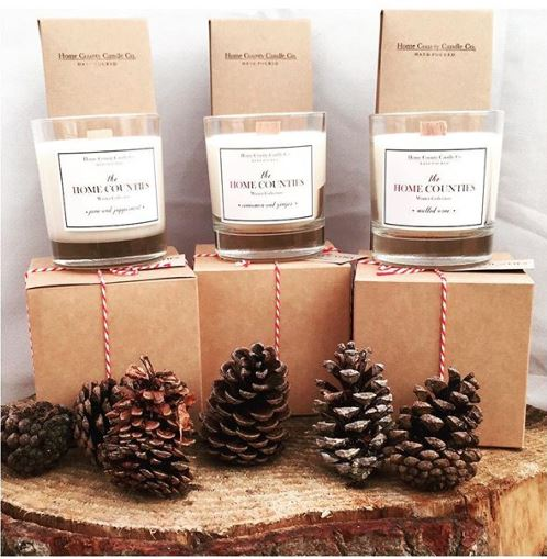 home county candle co. winter collection - Can't decide which scent to go for? Know somebody who can't resist Christmas candles? Here's a breakdown of our 3 delicious Christmas scented candles:1. Cinnamon & Ginger Candle - Christmas in a candle! Perfect for lovers of sweet cinnamon scents, with warmth of the wood fire embodied through spices such as Cinnamon, Ginger, Thyme and Nutmeg.2. Mulled Wine Candle - A fruitier Christmas scent bursting with warm wine and sweet berries, the perfect Christmas gift for one of the girls!3. Pine & Peppermint Candle - A fresher, more woody Christmas candle featuring a captivating blend of eucalyptus, juniper and hints of peppermint.
