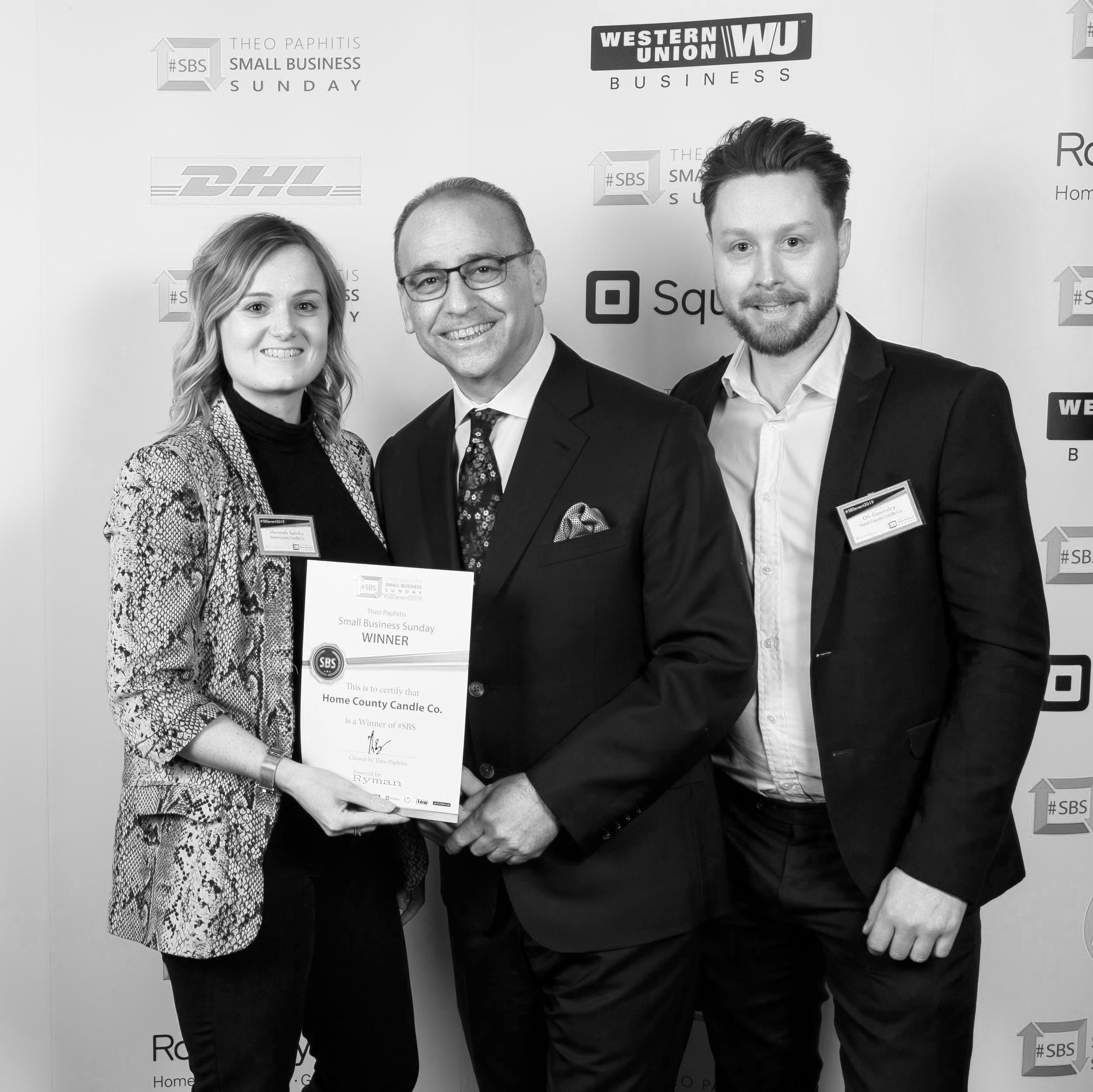the man himself… - To close the show it was then time for this year's winners to collect our certificates and have a photo with the man himself, Theo Paphitis.Having not received a certificate since graduation, it felt amazing to be awarded with something tangible which affirms the hard work we've put in throughout our first year. As small business owners it's very rare you find the time to give yourselves a pat on the back or reflect - it's always onto the next one straight away!Theo couldn't have been friendlier (even when I did have to point out that we'd have to swap positions to get the photo from 'my good side')! It's clear to see the passion he has for SBS and we felt he genuinely wanted to hear about our day and wants every attendee to get the most out of their experience.We cannot thank him enough for having us, we really do feel that our first SBS event was just the tip of the iceberg - the community is full of such brilliant, like-minded contacts that we feel the possibilities really are endless!