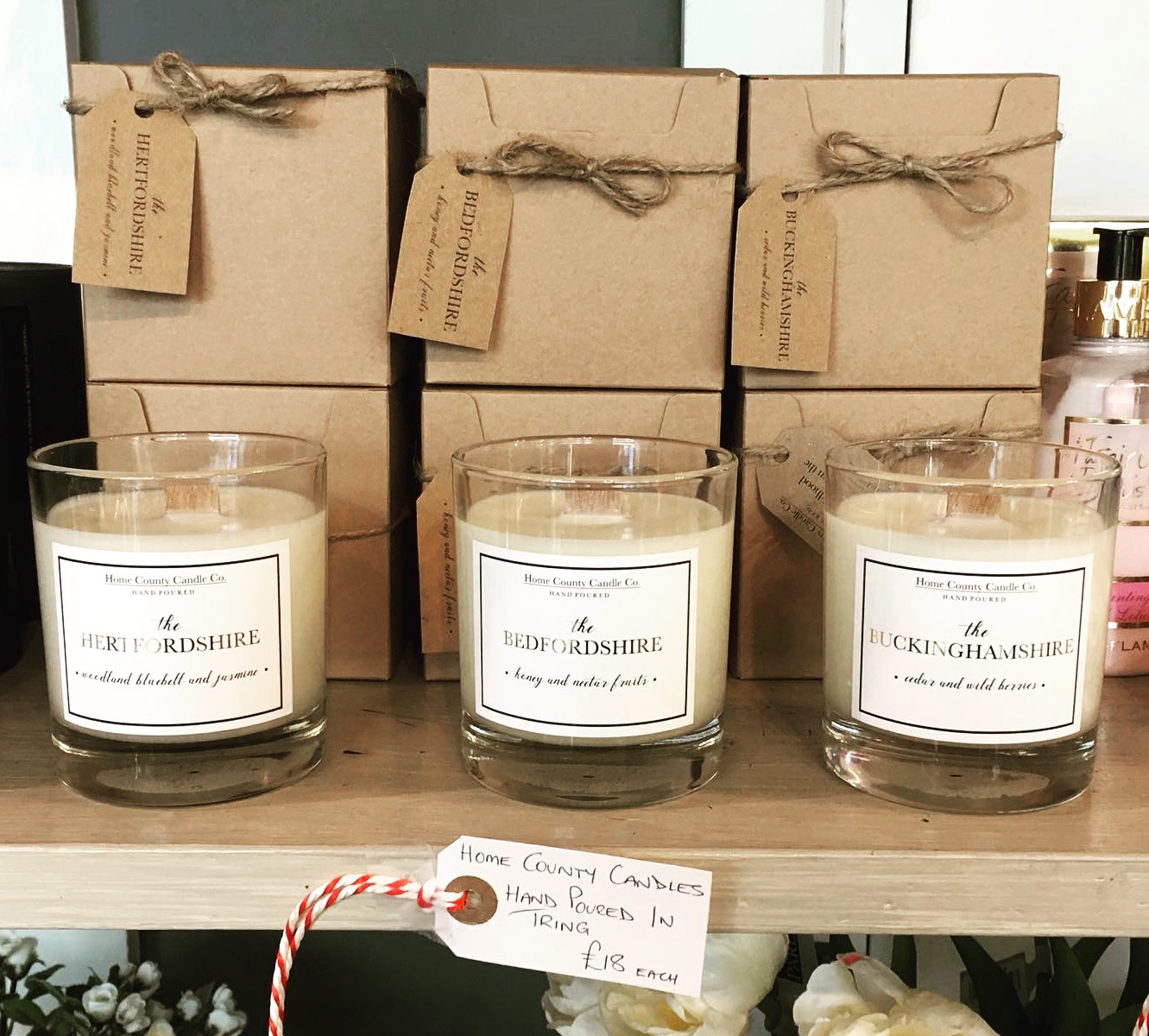 3 stand out moments of our first year in business - 1. Our first stockist…On the same day we launched our website we popped into The Market House in Tring with the first batch of our little candle babies. I was full of nerves but Oli was like a proud Dad ready to show the world his brood. Suzanne and David totally got the concept and placed their first order the next day. This was a huge confidence boost for us, knowing that our products were fit for a shop a beautiful as The Market House definitely set us on the right path for our first year. We can't thank Suzanne and David enough, they've been hugely supportive throughout the year (as have all of our lovely stockists) and gave us our first new-stockist-happy-dance!2. Making it through Christmas alive…After our first ever show (Herts County Show in May) we knew the way to make our first year a success would be to spread the word as much as possible and meet as many local people as we could. We booked a few fantastic summer shows and decided we'd book a different Christmas show every weekend from 1st November - 22nd December. Both working full time then as well as running the business it was touch and go whether we'd make it - but we did! Oli left his job to give the business his full attention and with lots of long days, even longer nights and Christmas spirit we made it out the other side.3. Our #SBS win…I've written about our SBS win recently (you can read all about it here) but having the belief of someone like Theo Paphitis is a huge deal to us. Getting that retweet and attending the SBS event this month has spurred us on an unbelievable amount, we can't wait to see where the SBS network will take us!