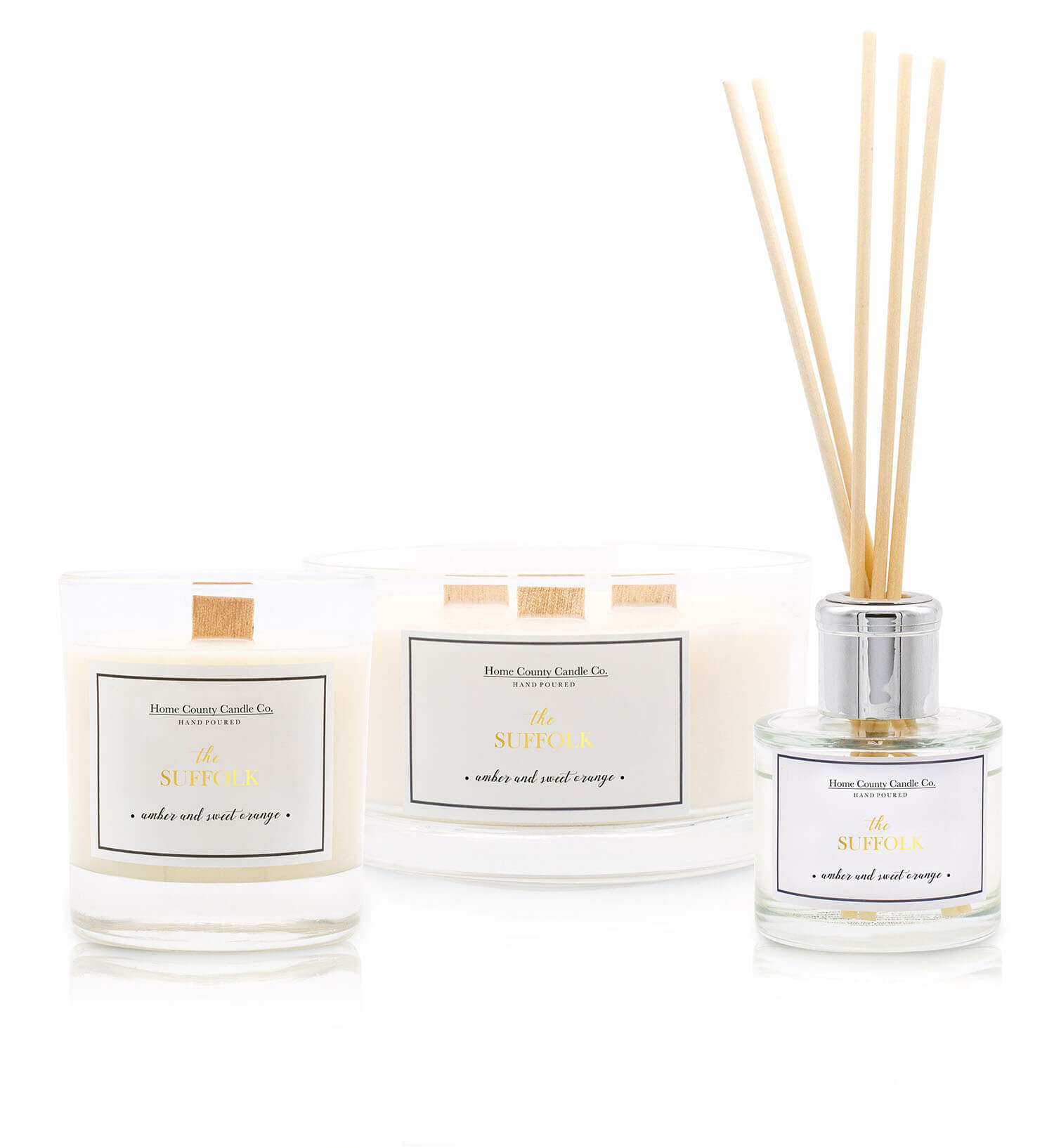 3. What is your favourite Home County Candle Co. product and why? - I chop and change all the time but at the moment it has to be The Suffolk reed diffuser – I love a clean, citrus scent anyway and when we have it in the bedroom I can smell it as I walk up the stairs – I love it!In Autumn it has to be The Hampshire candle, I love that it's darker and more 'woody', and then in winter I'm a Mulled Wine girl.