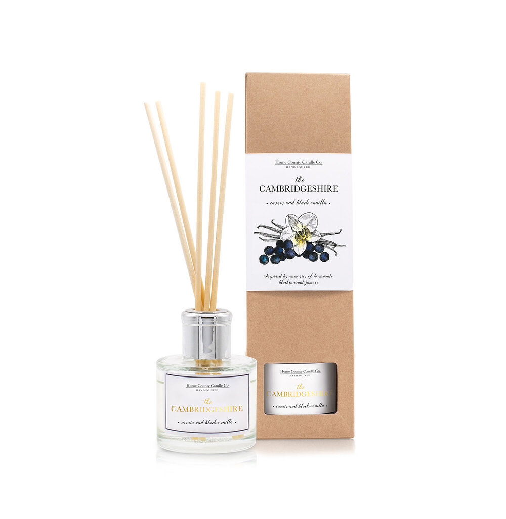 The Cambridgeshire - Cassis and Black Vanilla Reed Diffuser