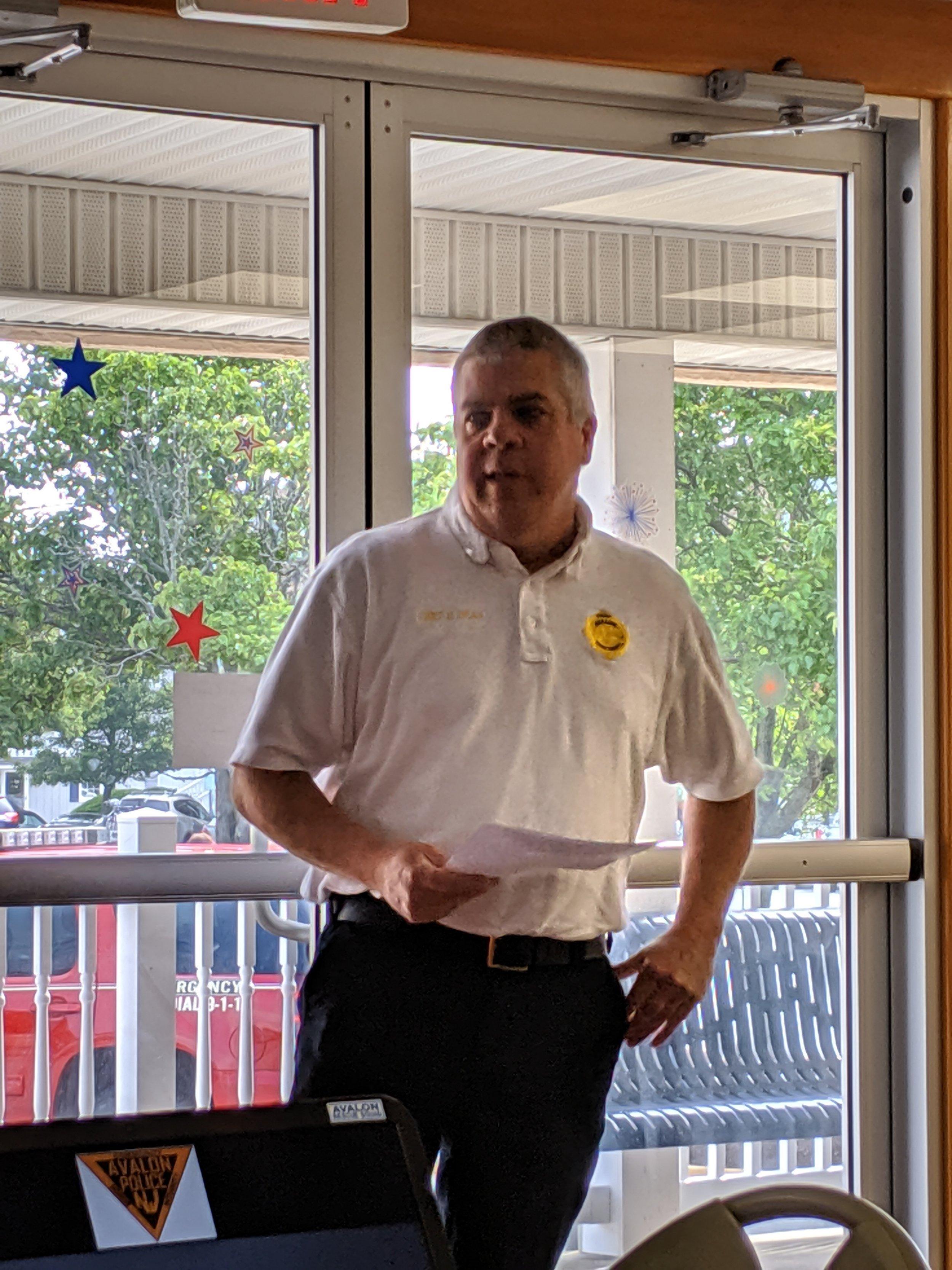 Chief Ed Dean, Avalon Fire Department