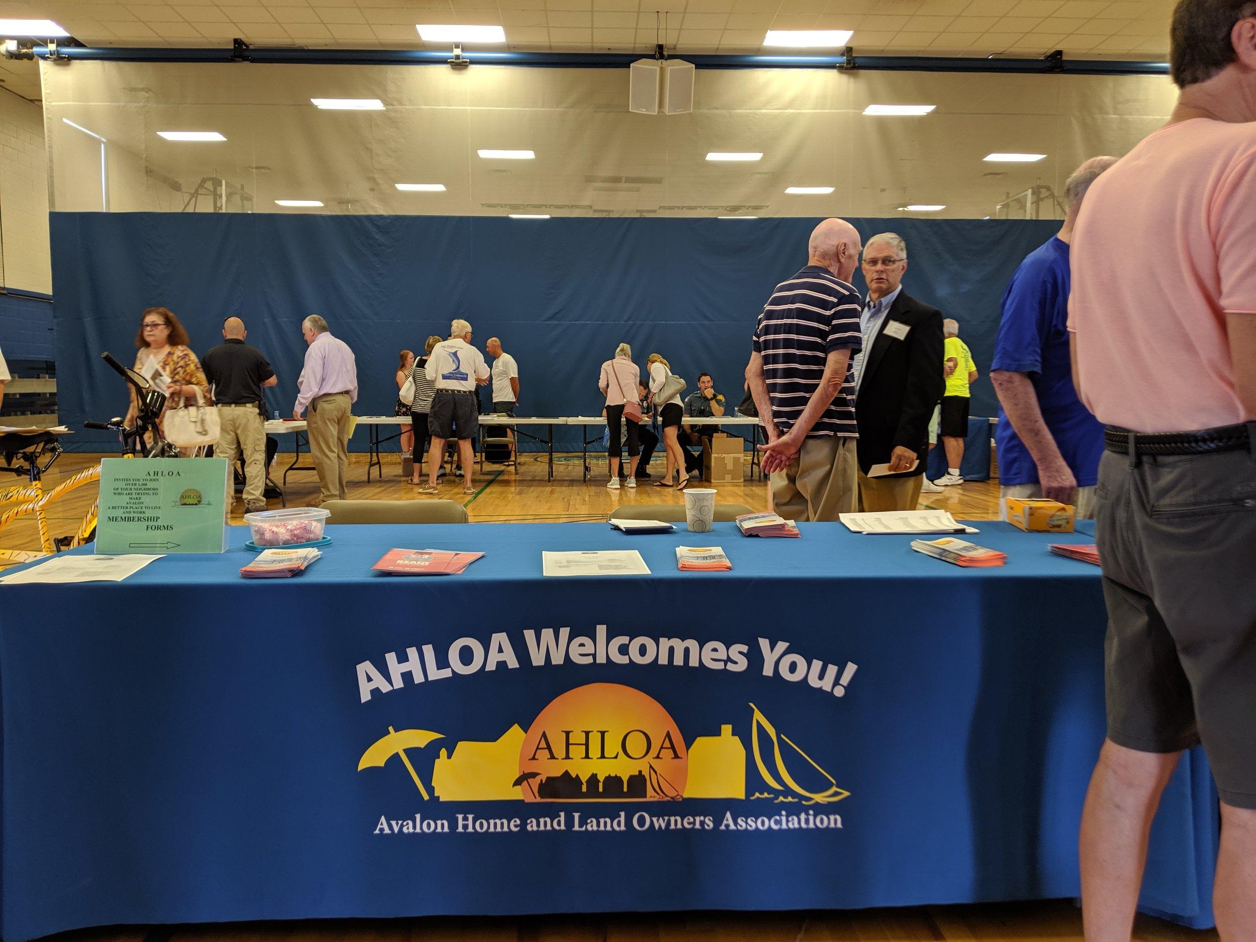 AHLOA Welcome Table
