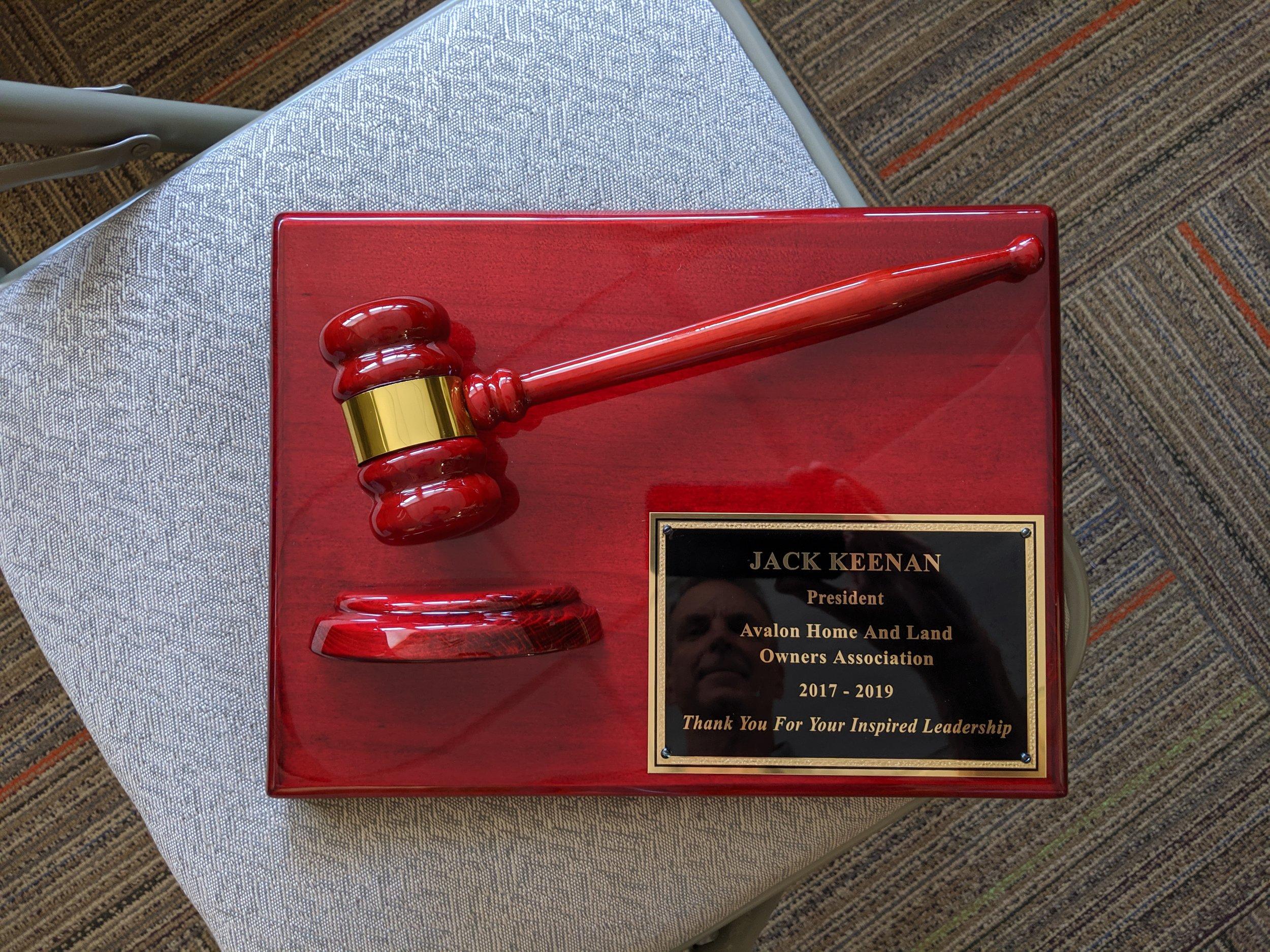 Jack Keenan's plaque