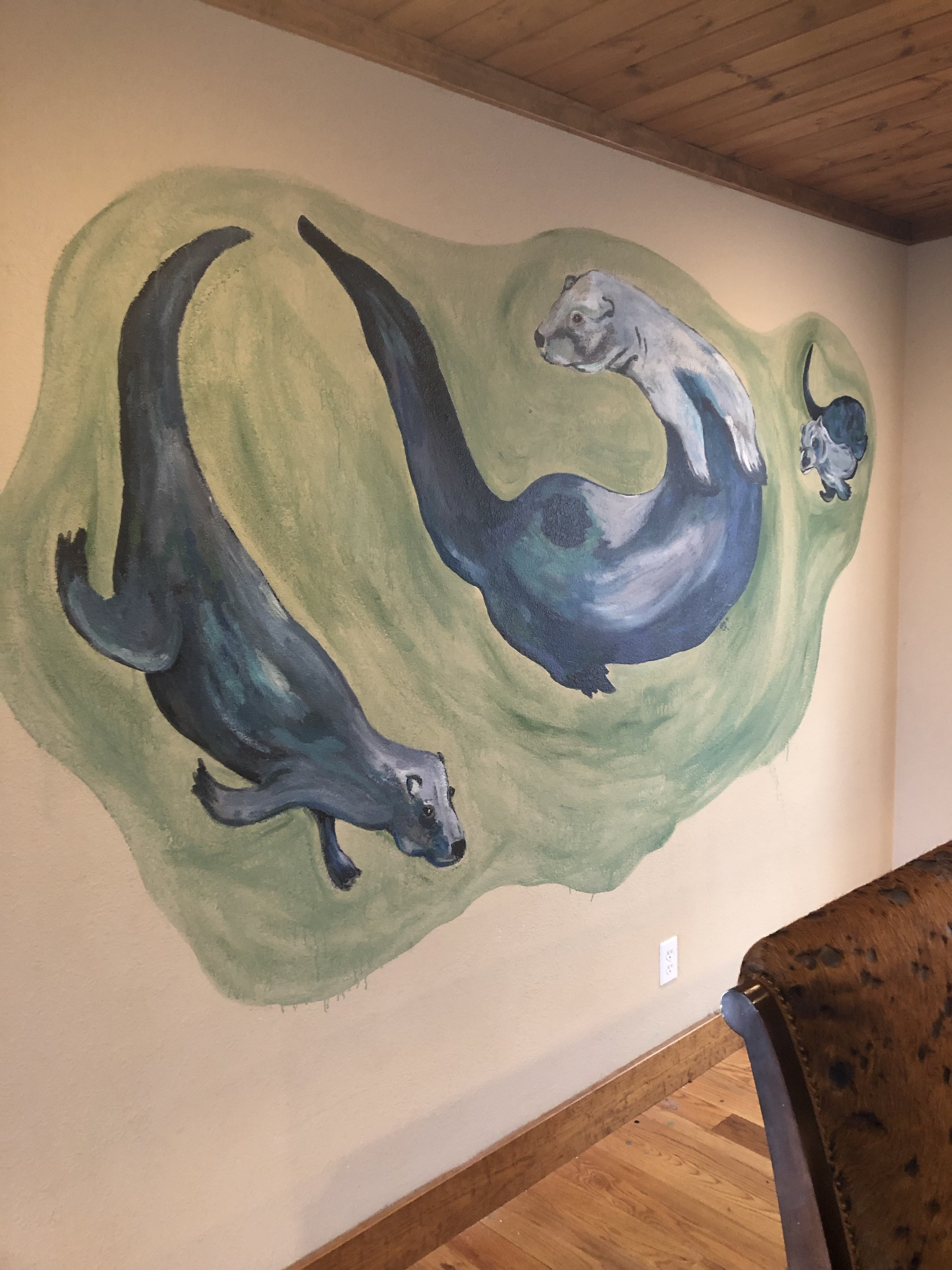 House Otter painting