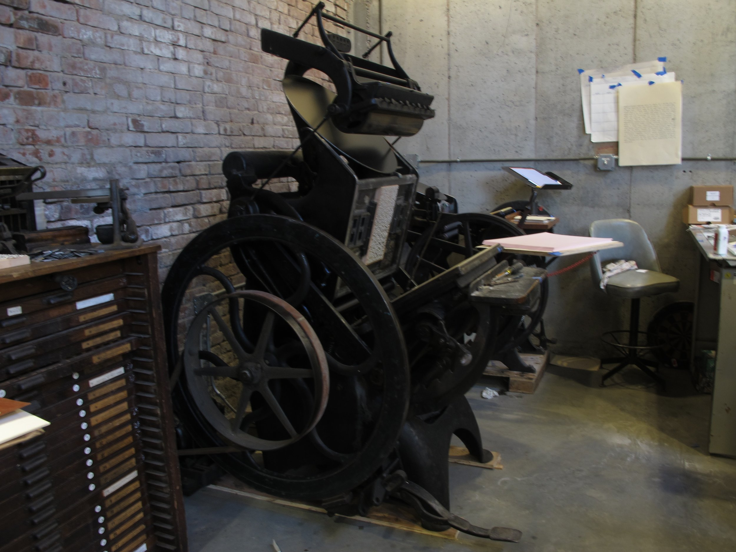 1902 Golding No.9 letterpress, Brooklyn